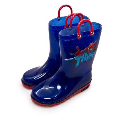 MARVEL 漫威 蜘蛛人 SPIDER-MAN 兒童雨鞋 高筒雨靴 台灣製造 藍紅 09696