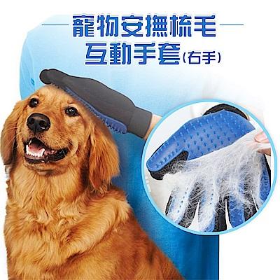 寵物安撫梳毛互動手套