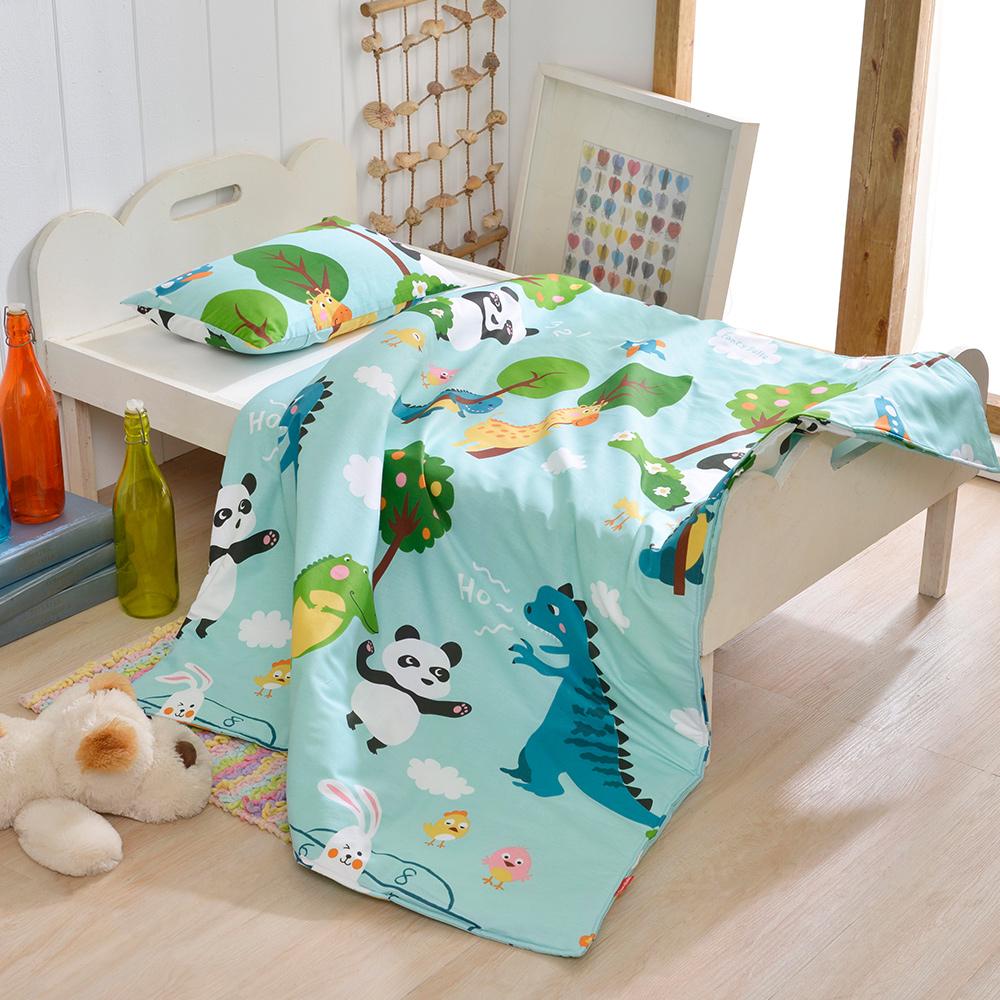 義大利Fancy Belle 好朋友的派對 兒童純棉防蹣抗菌兩用被+枕頭2件組