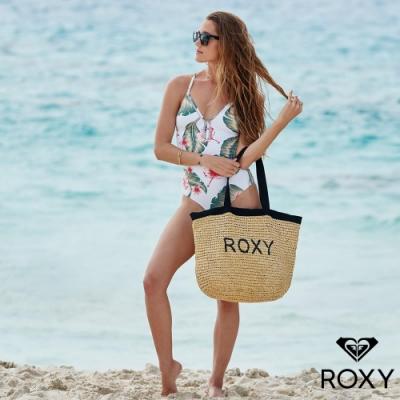 【ROXY】HEARD THAT SOUND 草編包 黑