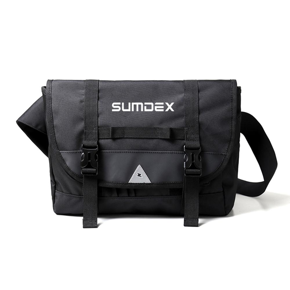SUMDEX TX0568BK潮牌單肩平板包垮包黑色