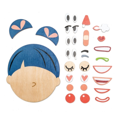 Tender Leaf Toys木製玩具-多變表情拼圖組