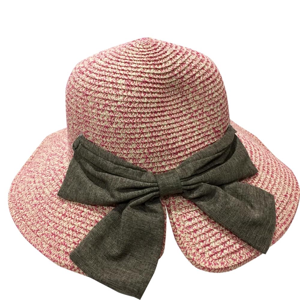 Redberry 大蝴蝶結遮陽草帽 遮陽防曬 摺疊便攜 時尚典雅 透氣排汗 4色系