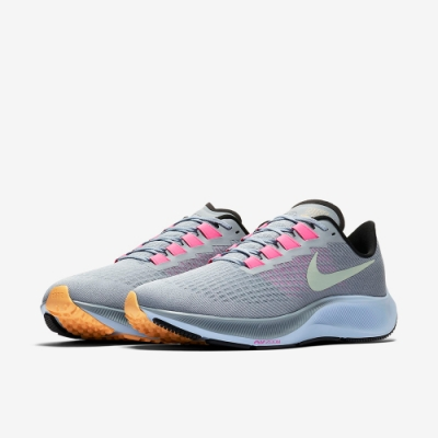 NIKE 慢跑鞋 男鞋 氣墊 避震 路跑 健身 運動鞋 灰 BQ9646401 Air Zoom Pegasus 37