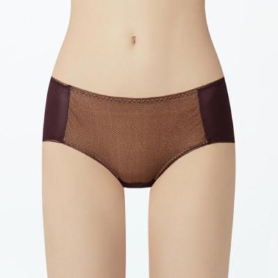 瑪登瑪朵 身呼吸 低腰平口內褲(莓酒紫)