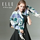 時時樂-ELLE羊毛花卉圖案披肩/圍巾