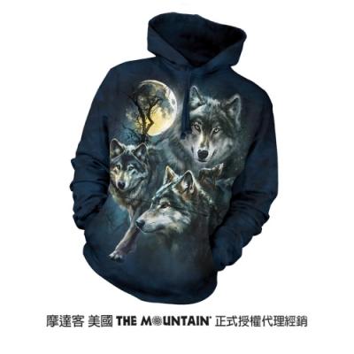 摩達客 美國進口The Mountain 月狼群  長袖連帽T恤