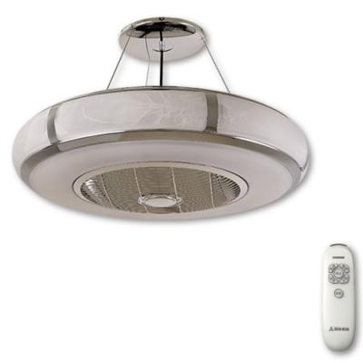 阿拉斯加 AURA精品吊扇玻璃款(遙控)-銀鉻色