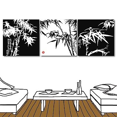 123點點貼 三聯中國竹子無痕壁貼30x30cm