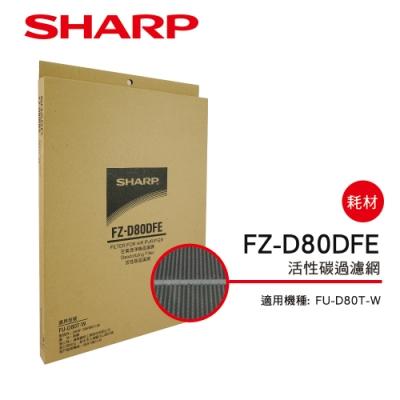 SHARP夏普 FU-D80T-W空氣清淨機 專用活性碳過濾網 FZ-D80DFE