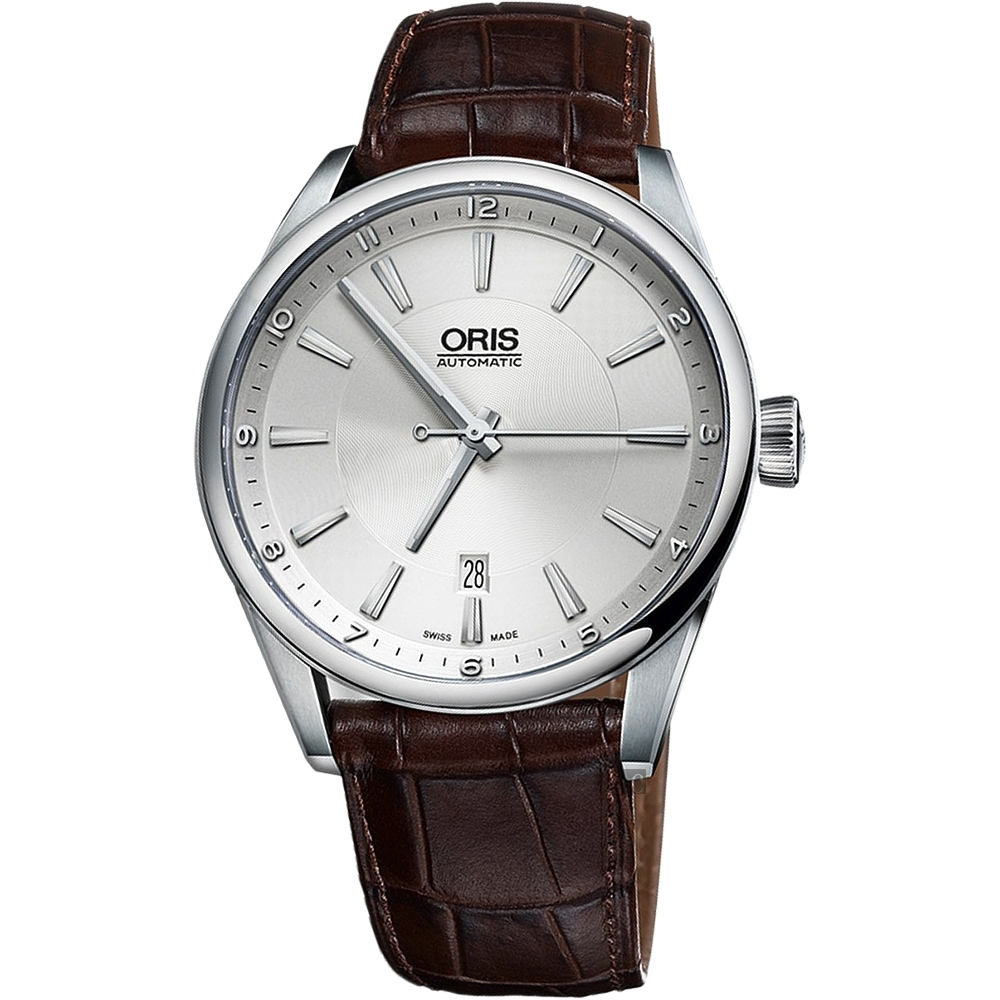 ORIS 豪利時 ARTIX DATE 日期機械錶-銀x咖啡/42mm 0173376424031