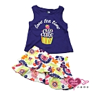 【天使霓裳-童裝】午茶時光 兒童背心短裙兩件組套裝(藍紫)