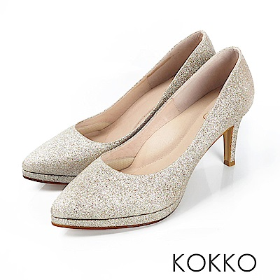 KOKKO - 美麗心計尖頭女王高跟鞋 - 輕奢金