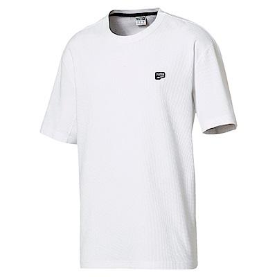 PUMA-男性流行系列Downtown短袖T恤-白色-歐規