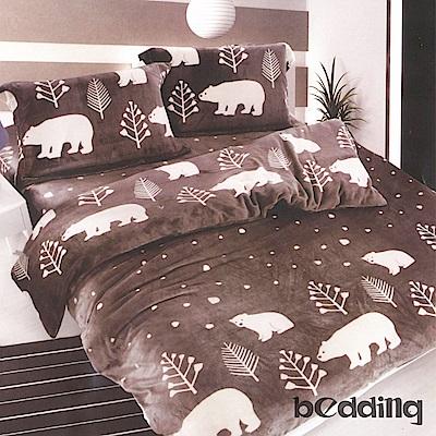 BEDDING-活性印染3.5尺單人薄床包涼被組-熊樂園