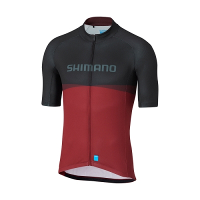 【SHIMANO】TEAM 男款短袖車衣 紅