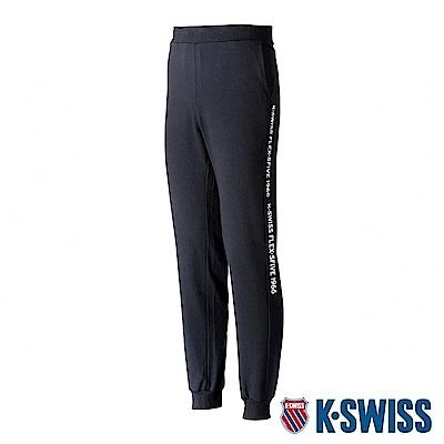 K-SWISS Flex-5Five Sweat Pants棉質運動長褲-男-黑