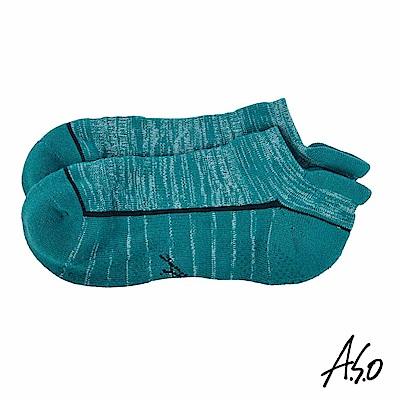 A.S.O 遠紅外線系列 除臭船型襪-孔雀藍