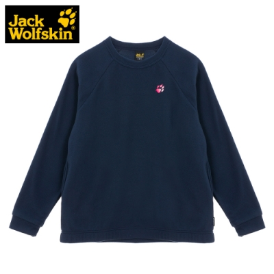 【Jack Wolfskin 飛狼】女 圓領刷毛保暖衣『深藍』
