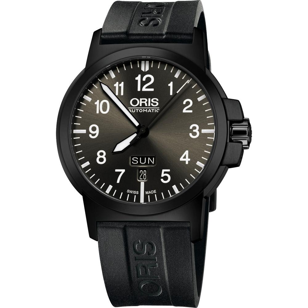 Oris BC3 Advanced 日曆星期機謝腕錶-鐵灰x橡膠錶帶/42mm