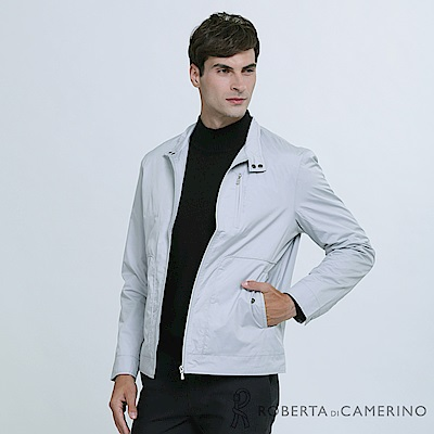 ROBERTA諾貝達 都會休閒 簡約百搭 夾克外套 灰色