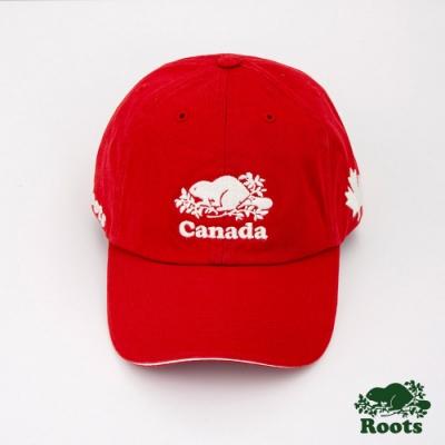 Roots配件- 加拿大系列棒球帽-紅