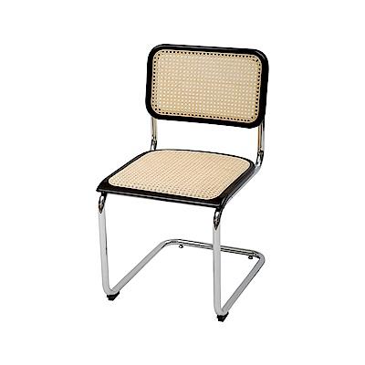 完美主義 極簡韓風藤編無扶手鐵腳椅/餐椅/休閒椅/化妝椅/書桌椅(2色)
