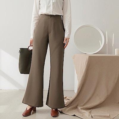 質感西裝小喇叭褲-OB大尺碼