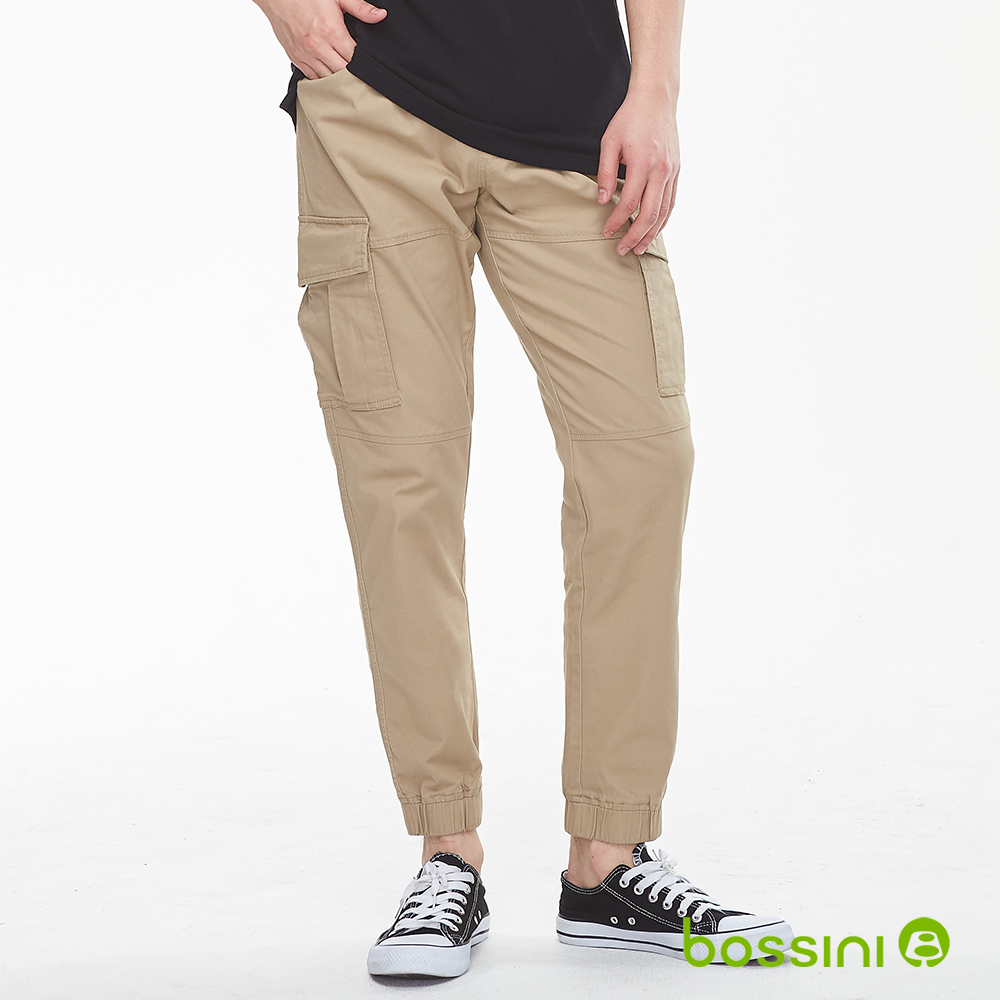 bossini男裝-輕鬆束口長褲02茶色