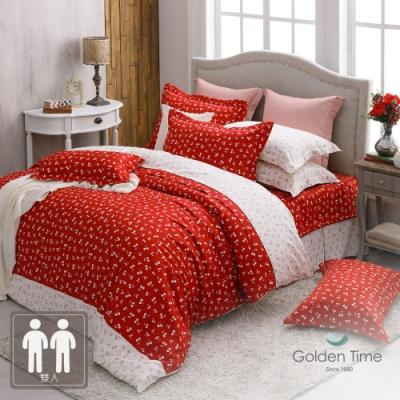 GOLDEN-TIME-馬拉斯奇諾的愛戀-200織紗精梳棉床罩組(雙人)