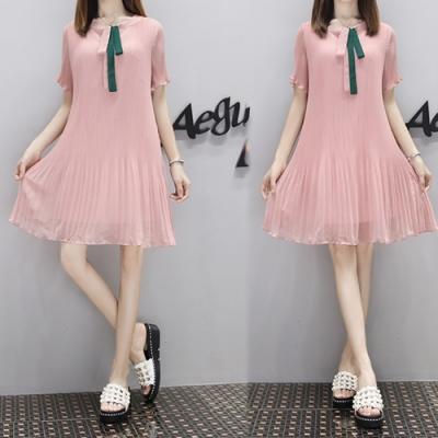 【韓國K.W.】獨具品味時尚氣質素面洋裝-2色