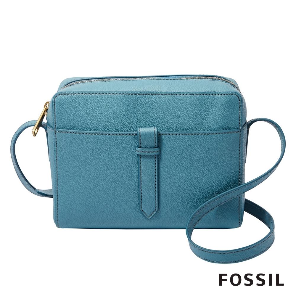 FOSSIL SYDNEY 真皮相機包-湖水藍 SHB2077981