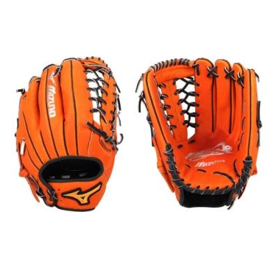 MIZUNO 壘球手套-外野手用-右投 美津濃 訓練 棒球 1ATGS20960-51 橘黑