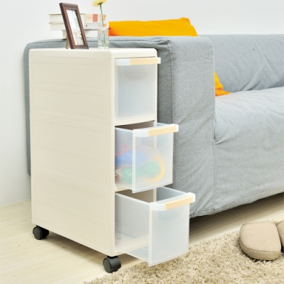 H&R安室家 三層細縫抽屜收納櫃GF10