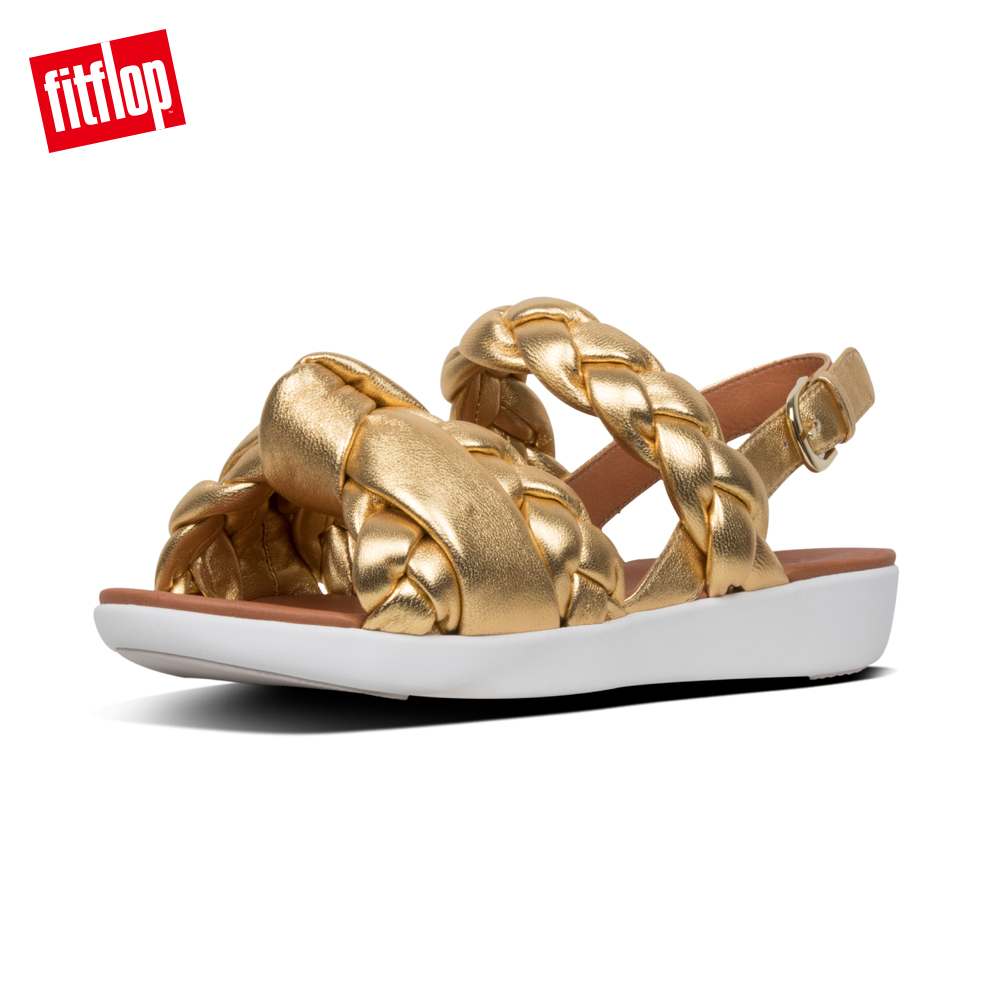 FitFlop METALLIC BACK STRAP SANDALS-黃金色