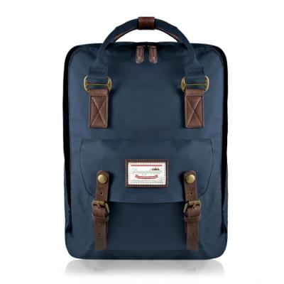 【IBAOBAO愛包包】Doughnut加大款馬卡龍後背包 - 布魯藍