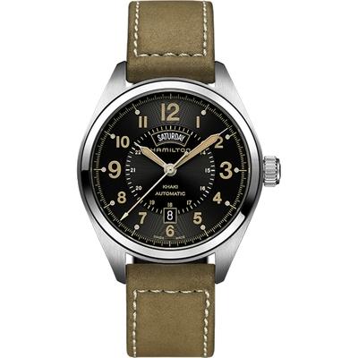 Hamilton 漢米爾頓 KHAKI FIELD卡其野戰機械腕錶-黑x軍綠/42mm H70505833