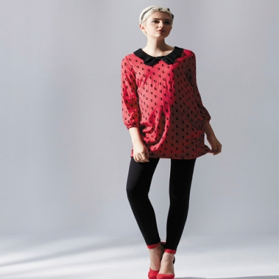 【ohoh-mini孕婦裝】蝴蝶結領造型風格孕婦上衣