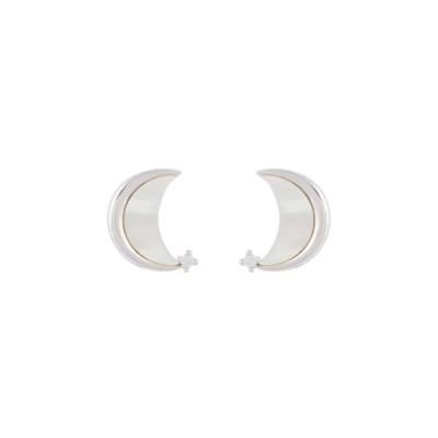 NOONOO FINGERS WHITE MOON EARRING 耳環