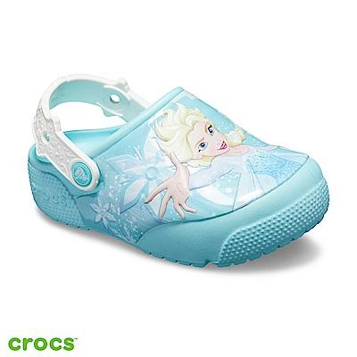 Crocs 卡駱馳 (童鞋) 冰雪奇緣艾莎酷閃小克駱格-205495-4O9