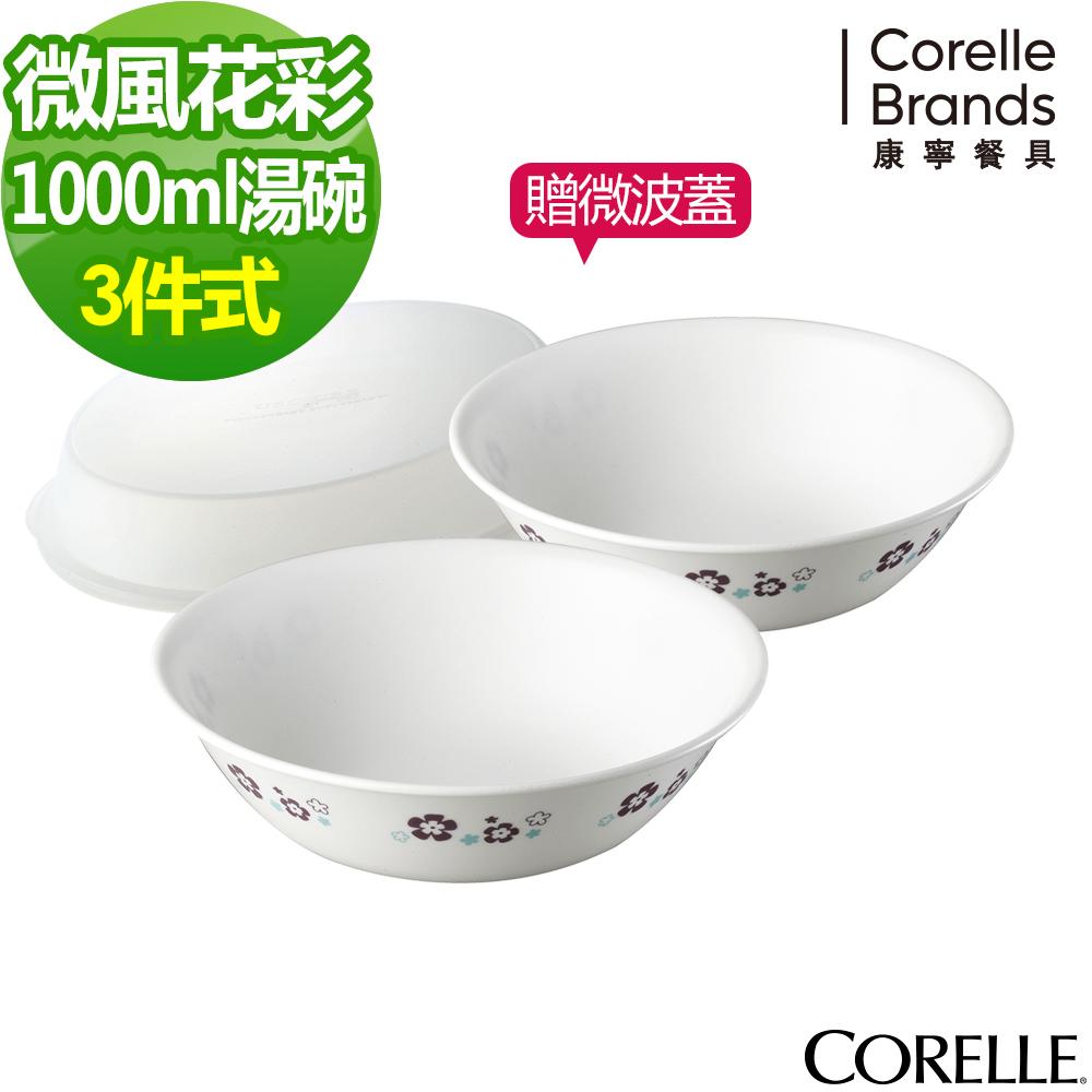 CORELLE康寧 微風花彩2件式餐碗組(BA)