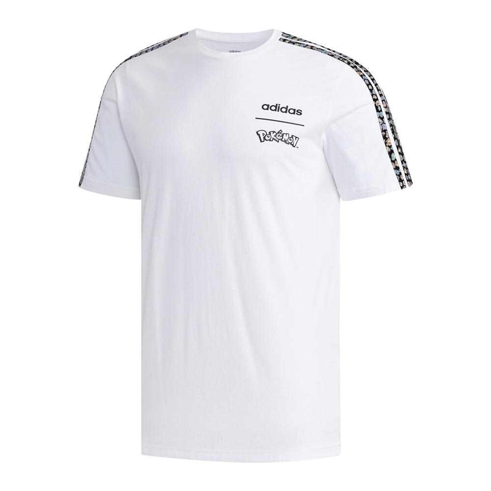 ADIDAS 寶可夢 串標 男 短袖上衣 白 FM6034