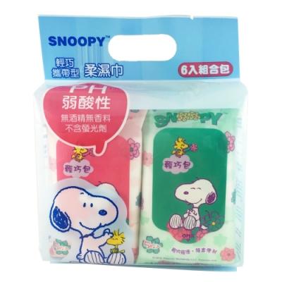Snoopy 史努比 輕巧攜帶型濕紙巾 5 抽 X 18 包/組
