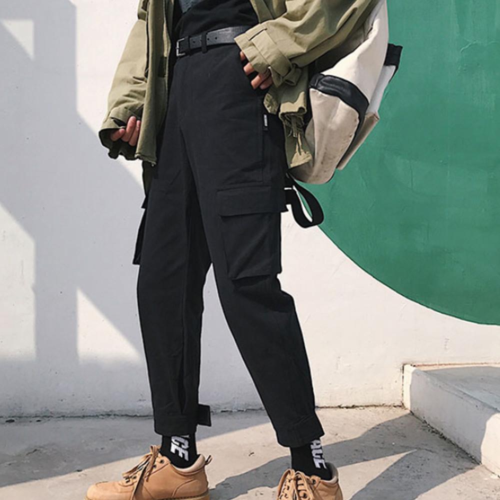 BuyGlasses 復古大口袋直筒寬鬆工作褲