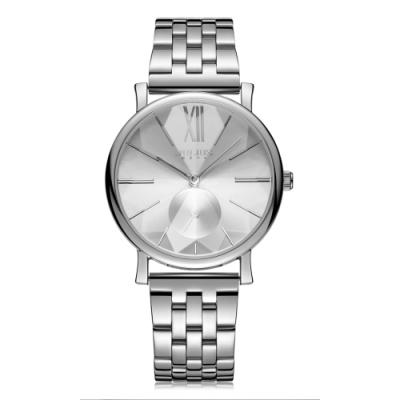 JULIUS聚利時 盛夏光年質感不鏽鋼錶帶腕錶-五色/37mm