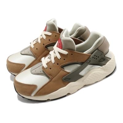 Nike 休閒鞋 Huarache Run LE 聯名 童鞋 Stussy 經典 武士鞋 穿搭 中童 卡其 棕 DH3324200