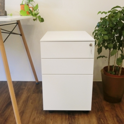Amos-無印簡約側開式收納辦公抽屜櫃