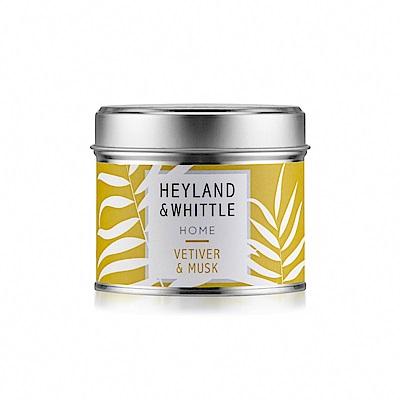H&W英倫薇朵 岩蘭草麝香香氛燭罐180g