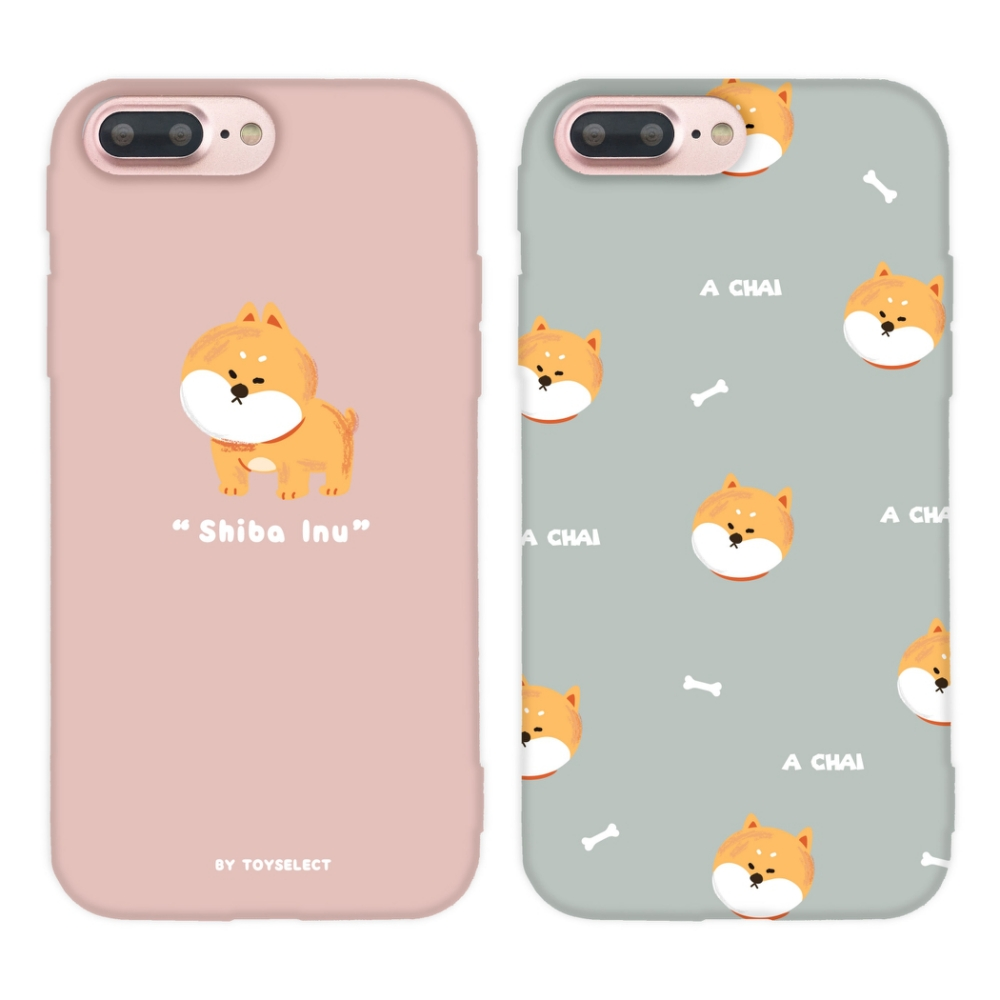 【TOYSELECT】iPhone 7/8Plus Chubby大頭柴犬系列手機殼