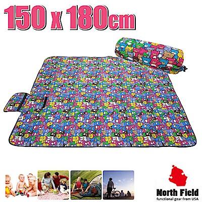 美國 North Field 兒童趣 加厚防水野餐墊(150×180cm)_歡樂小熊